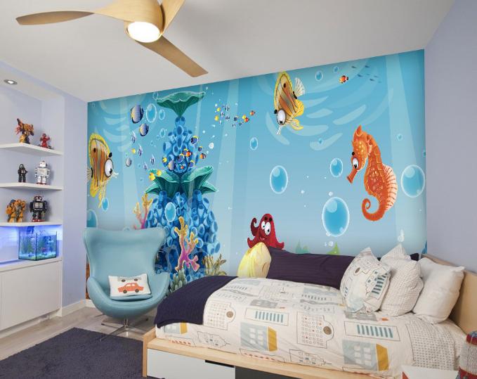 3D Cute Sea World  83 Wall Paper Murals Wall Print Wall Wallpaper Mural AU Kyra