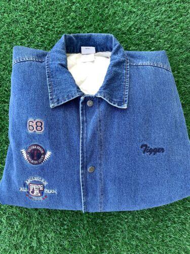 Vintage Disney Tiger Denim Varsity Jacket Sz XL