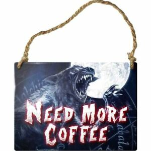 Alchemy-Gothic-Need-More-Coffee-Metal-Steel-Metal-Hanging-Wall-Plaque-Sign-9cm