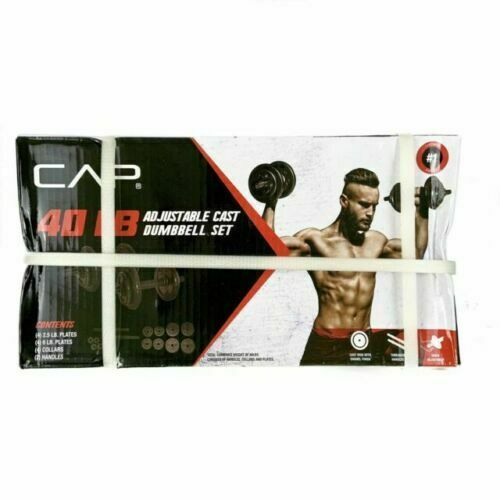 Same-Day Free Shipping! CAP 40 Lb Adjustable Cast Iron Dumbbell Weight Set