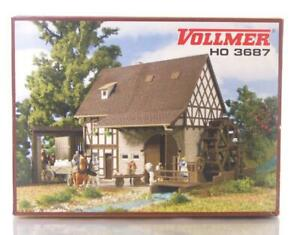 MINT-VOLLMER-3687-HO-OO-GAUGE-BUILDING-KIT-GRAIN-MILL