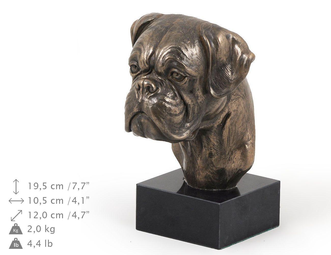 Bóxer alemán 2, estatua de mármol   busto de perro ArtDog, edición limitada ES