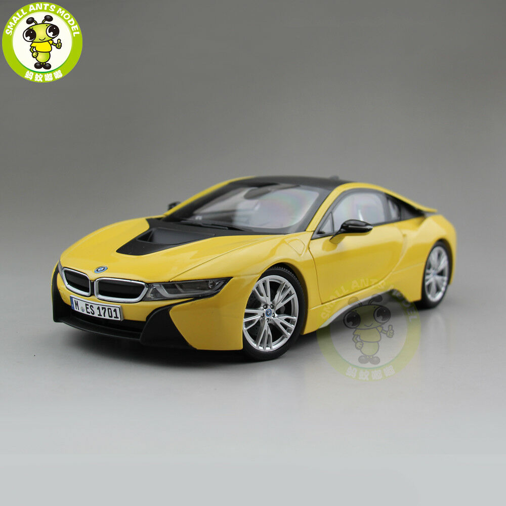 1 18 Paragon BMW i8 racing car Diecast Car Model toys eau Collection Jaune