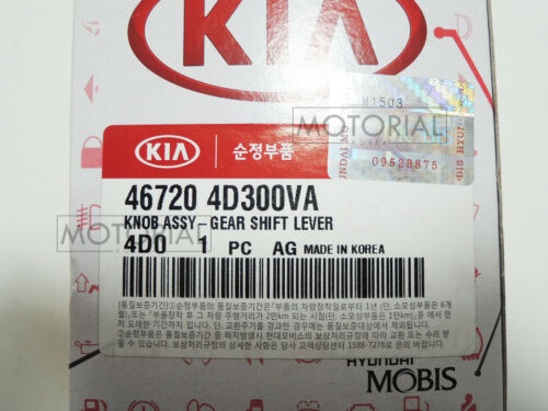 HYUNDAI ENTOURAGE 2006-2010 OEM Leather Gear Shift Lever Knob Black A//T