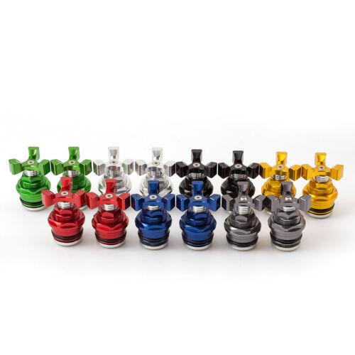 FXCNC Motorcycle Preload Adjusters Fork Bolts For Kawasaki ninja 2008-2012 2010