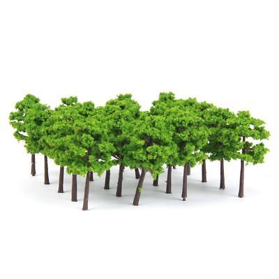 100pcs Model Trees Train Railway Mountain Park Wargame Scenery Layout 1:150