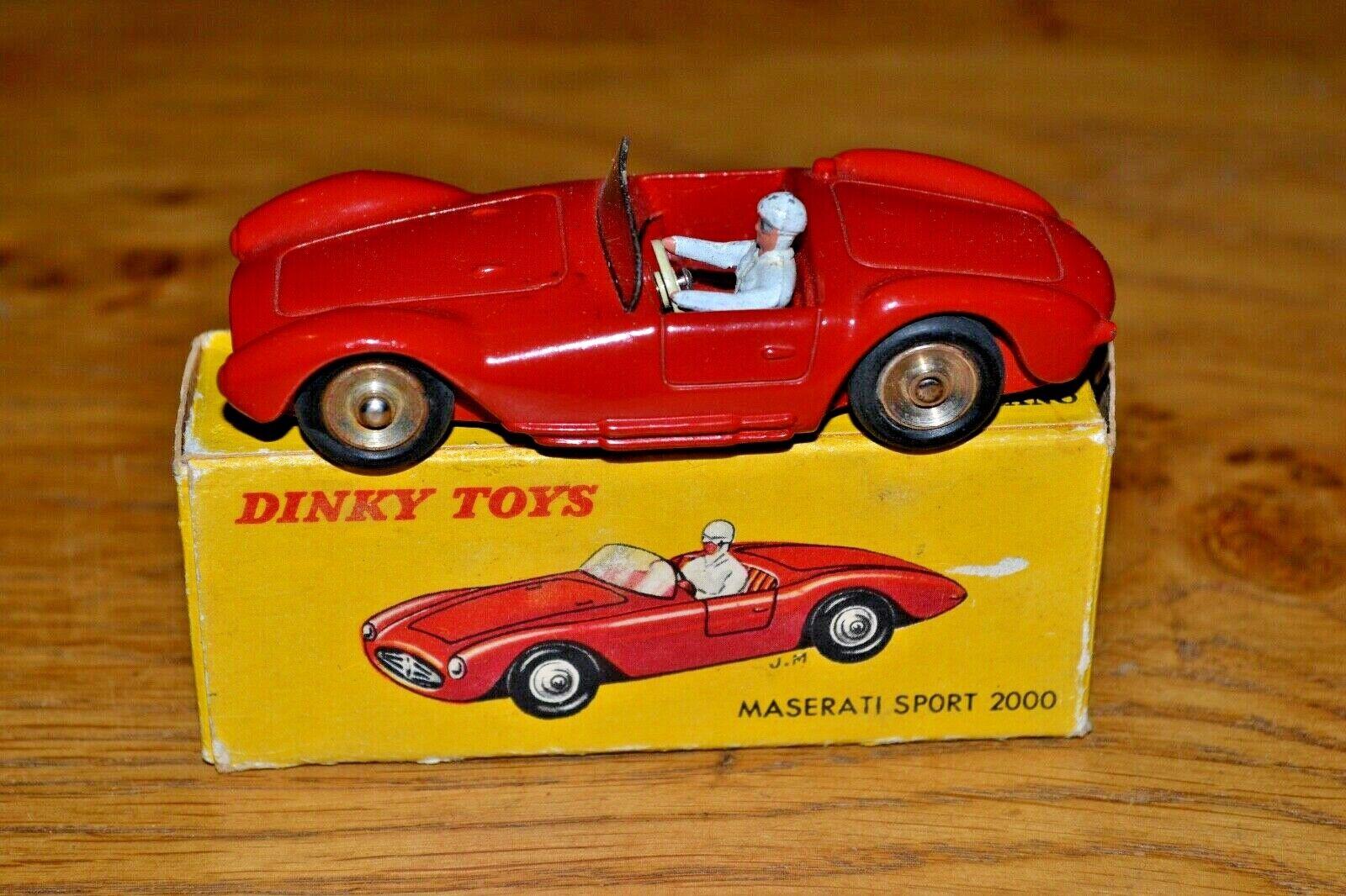Vintage French Dinky Toys Maserati Sport 2000; No. 22A; VGC