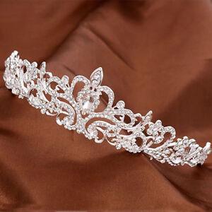 Hair-Tiara-Wedding-Bridal-Princess-Crystal-Prom-Crown-Headband-Party-Jewelry
