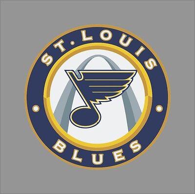 St Louis Blues #8 NHL Team Logo Vinyl Decal Sticker Car Window Wall Cornhole