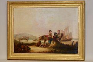 k34f12- Gemälde, William Shayer sen. (1788-1879), Küste in England