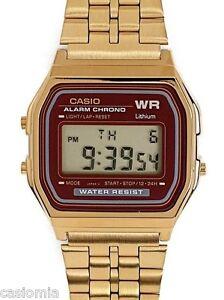 bd1c5dc2545 Casio A159WGEA-5 Mens Gold Tone Stainless Steel Digital Watch ...