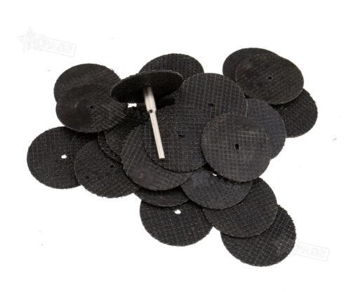 Cut Off Mandrel Set Bit Kit Rotary Tool 30Pcs Resin Cutting Wheel Disc