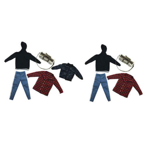 1//6 Scale Male Doll Body Trousers T-Shirts for Hot Toys 12/'/' Action Figure
