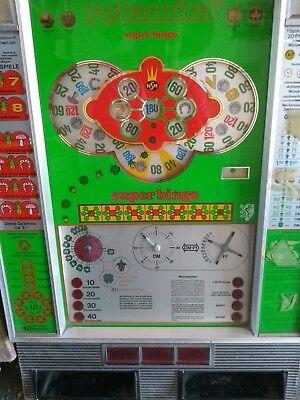 Aggressiv Spielautomat,geldspielautomat Münzspielautomat Rotamint Super Bingo Rarität 60er
