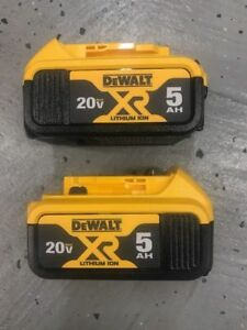 "2-PACK DeWalt  20V max Lithium Ion Battery Pack DCB205  5.0AH ""2018 Dated Code"""