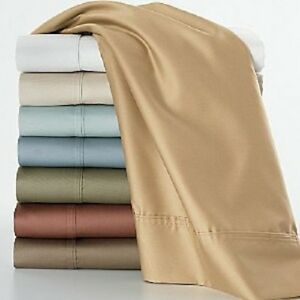 1200 Thread Count 100 Egyptian Cotton Solid Bed Sheet Set