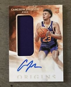 CAMERON JOHNSON 2019-20 PANINI - ORIGINS BASKETBALL ROOKIE AUTOGRAPH RELIC CARD