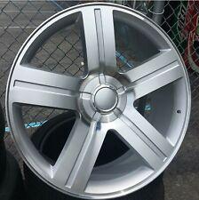 24 Inch Silver Amp Machined Texas Edition Rims Wheels Replica G03 258 22 26 28