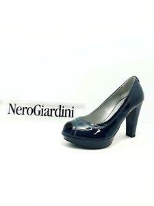Donna P512591de Nero Giardini Vernice Blu In Spuntato Scarpa ZUTwOO