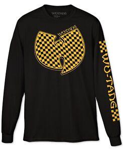 Wu-Tang-Clan-Mens-T-Shirt-Yellow-Black-Size-Large-L-Checker-Long-Sleeve-Tee-251