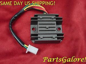 6 Wire 2 Plug Voltage Regulator 50-250cc ATV Scooter Trike Buggy Motorcycle