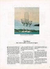 "PUBLICITE ADVERTISING 014   1967   DAUM   CRISTAL ""les verres soufflés"""