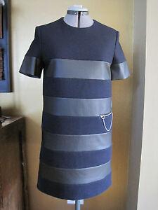 NWT-Stella-McCartney-Navy-Black-Color-Block-Shift-Dress-Size-38-6US