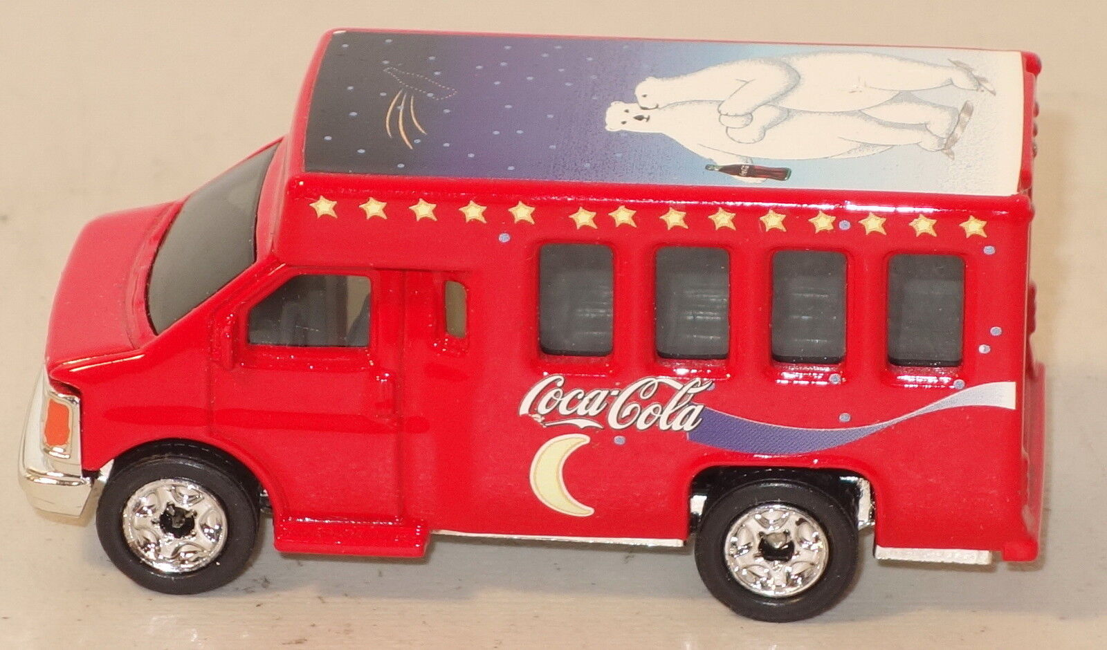 ETTD Rare MATCHBOX SUPERFAST 24-K Rouge COCA-COLA CHEVROLET Bus PREPRO