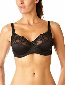 Naturana-87543-Full-figure-Underwire-Floral-Bra-Plus-size-Black-Ivory-18B-24DD