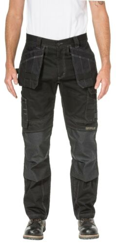 Caterpillar CAT Floor Layer black stretch flex fabric work trouser