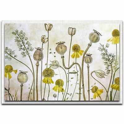 Modern Farmhouse Floral Contemporary Chic Home Decor Flower Print Metal Wall Art Ebay