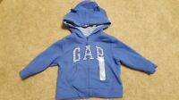 Boys Girls Gap Blue Bear Ears Hoodie Size 6-12 Months