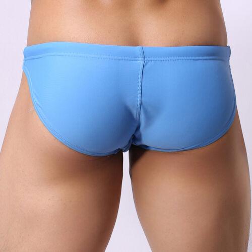 NEW Men/'s Low Rise Bikini Swimwear Light Blue Briefs Swimsuit Beach