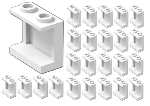 ☀LEGO New Lot of 25 WHITE Wall Elements 1x2x2 Window