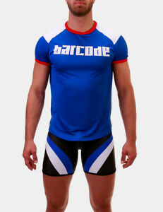 barcode-Berlin-gt-T-Shirt-Grisha-blau-weiss-91681-806-sexy-BRANDNEU