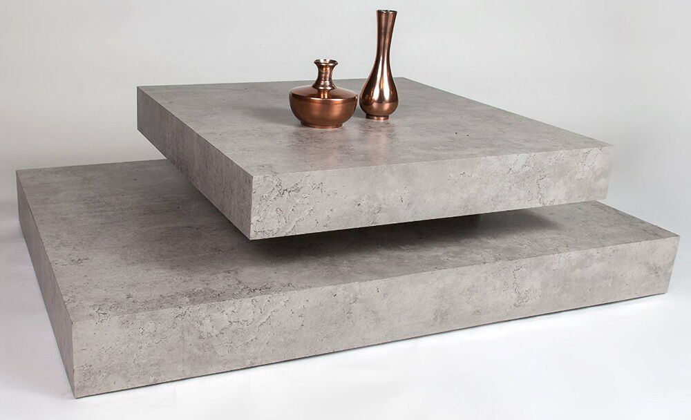 Tavolino stampa Cemento, 115 x 75 x x x 31 cm 8c6763