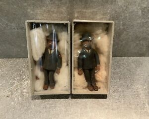 Lot-Dupont-d-rare-figurine-en-mousse-de-latex-animee-EXINCO-fin-annee-50-Tintin