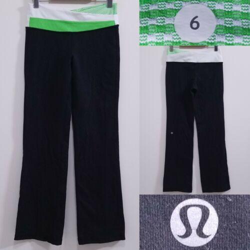 Lululemon ASTRO Lime Green Yoga Leggings Size 6 Sm