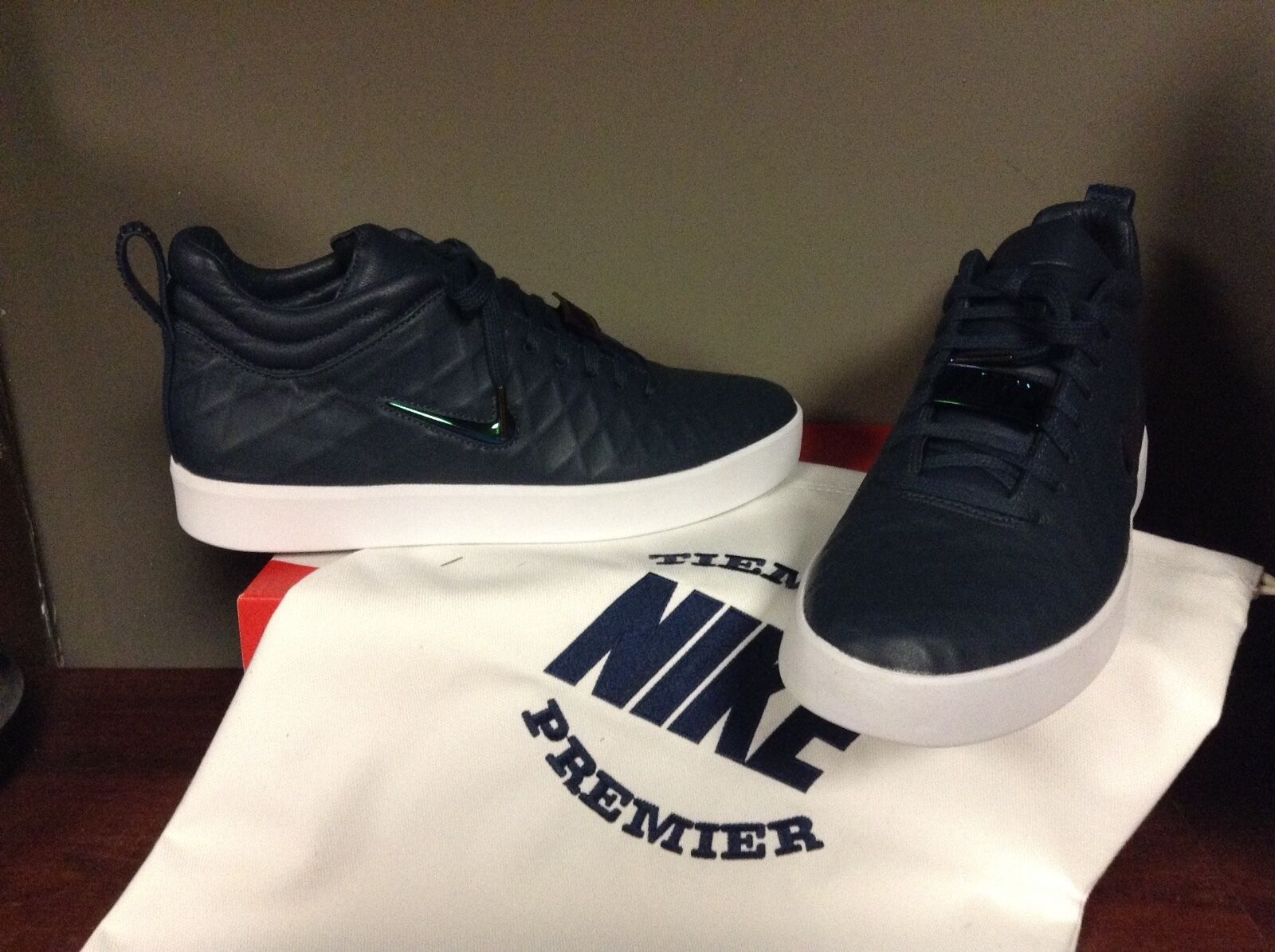 Men's Nike Tiempo Vetta 17 Navy 876245-100 W/TRAVEL BAG NEW COLOR