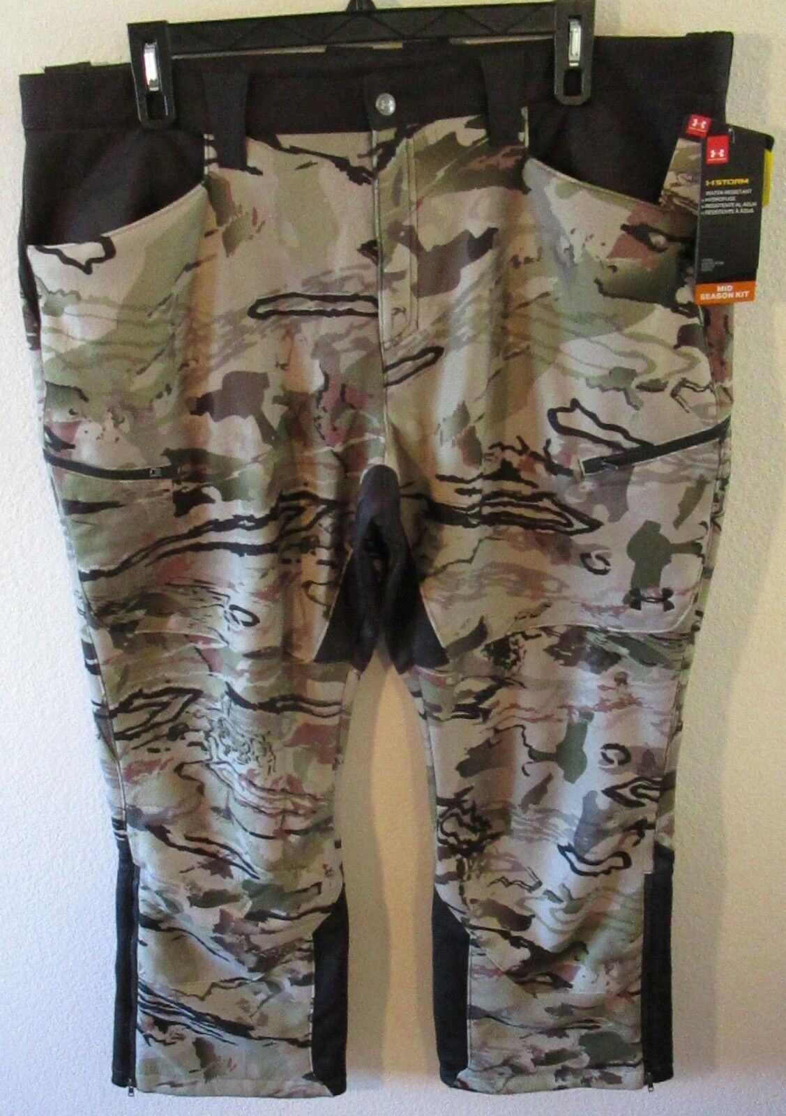 Nuevo con etiquetas para hombre Debajo de armadura UA Stealth Polar Pantalones de Caza 42x30 Ridge Reaper