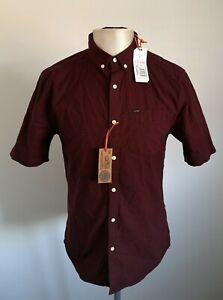 BNWT-Mens-Superdry-Red-Short-Sleeved-Shirt-Size-Medium