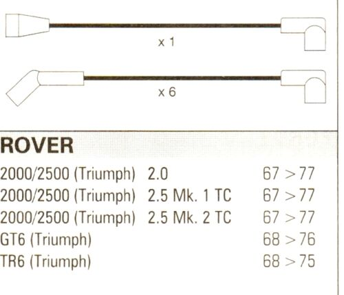 ROVER Triumph gt6 tr6 2000//2500 Formula Power 10mm Performance Ht Cavo di.