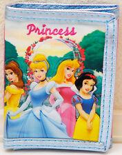 Disney Princesses Cinderella Belle Aurora Snow White Kids Wallet - NEW