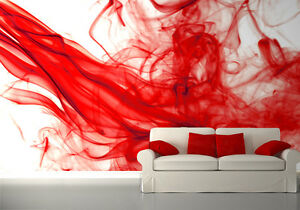 Image Is Loading 254x183cm Photo Wallpaper Wall Mural Abstract Composition Red