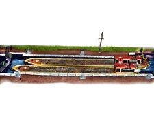 Langley Models A18 - Kanal-Set, 2 Boote und Schleuse - Spur N - NEU