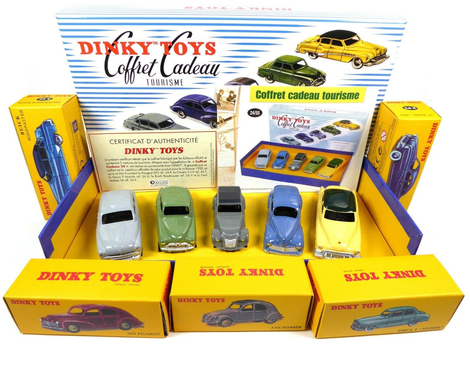 Coffret de 5 voitures de tourisme 24 55 Atlas Dinky Toys 1 43 MB102