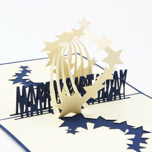 3D-Laser-Sky-Star-Light-Paper-Greeting-Cut-Handmade-Happy-Birthday-Postcard-Jian