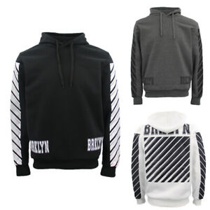 New-Men-039-s-Unisex-Pullover-Hoodie-Casual-Sports-Fleece-Lined-Jumper-Sweater-White