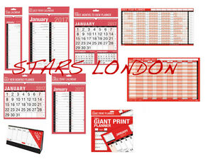 2019 Wall Calendar Planner Slim Easy Large Mtv Giant Yearly Staff