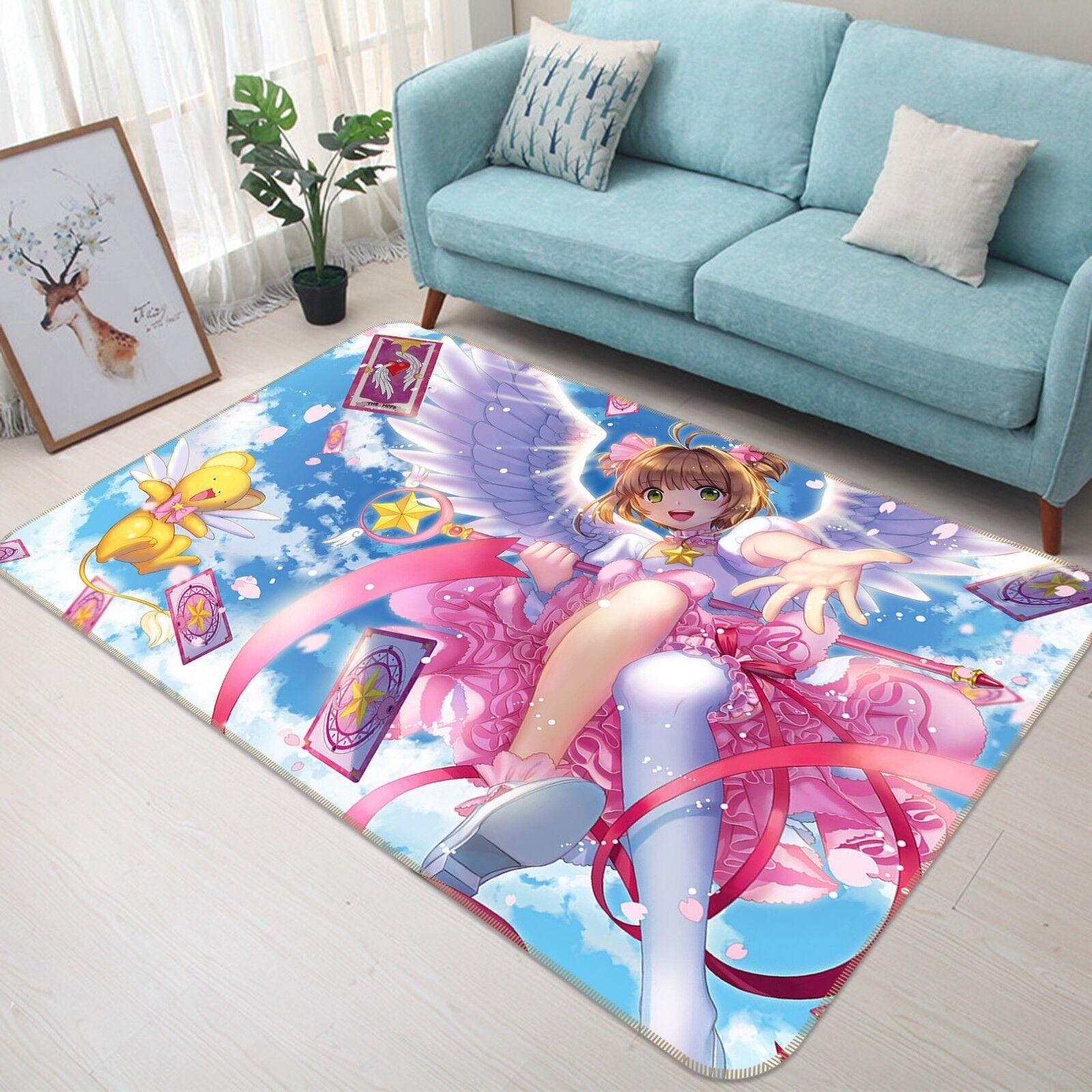 3D Cardcaptor Sakura 531 Japan Japan Japan Anime Rutschfest Matte Runden Elegant Teppich DE 0dba20